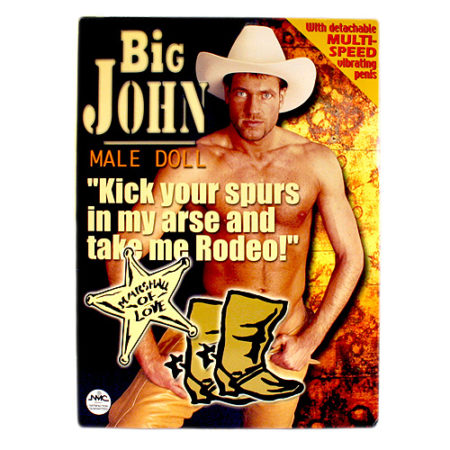 Big John Vibrating Male Blow Up Doll 1