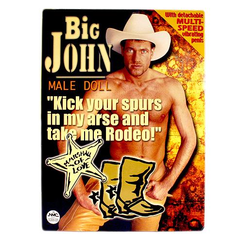 Big John Vibrating Male Blow Up Doll 1