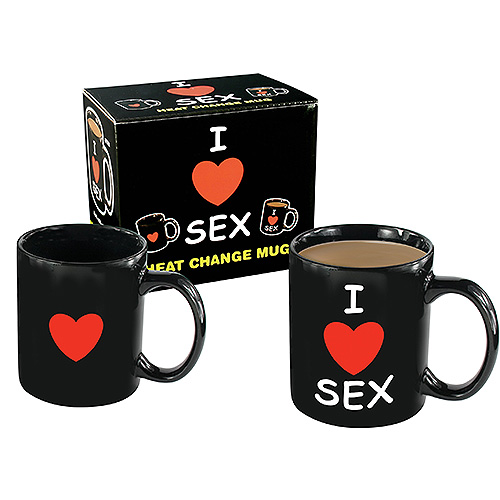 I LOVE SEX Heat Change Mug