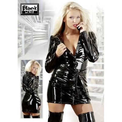 Black Level PVC Coat Dress