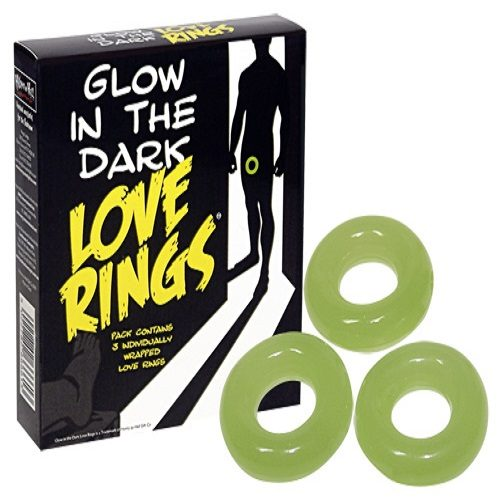 Glow in the Dark Love Rings (3 Pack)