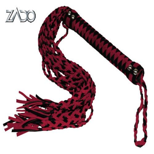 Zado Suede Red and Black Whip