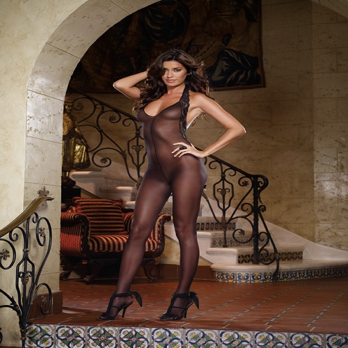 Dreamgirl Women's Ferrara Halter Bodystocking 1
