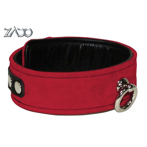 Zado Bondage Collar Red 1