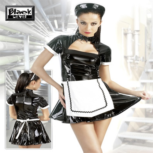 Black Level PVC Classic Maids Dress