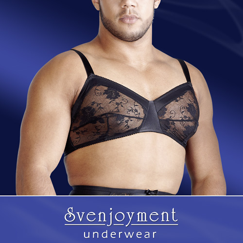 Svenjoyment Men's Lace Bra Black 1