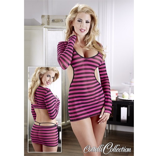 Cottelli Collection Back Cut Stripes Dress