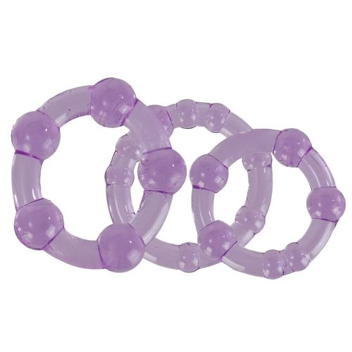 Silicone Island Rings Purple 3 Pack 1