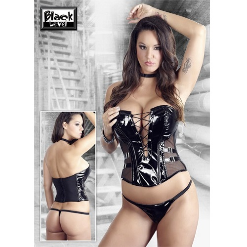 Black Level PVC Lace Up Corset