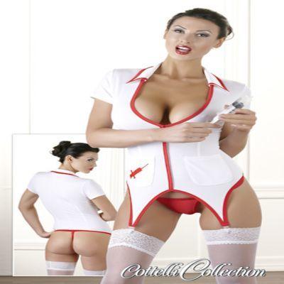 Cottelli Collection Nurse Suspender Dress 1