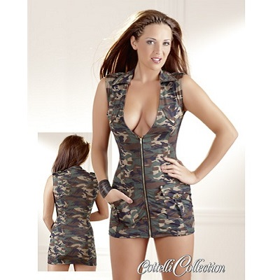 Cottelli Collection Military Mini Dress