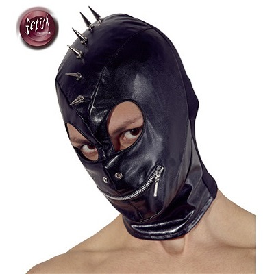 Fetish Collection Faux Leather Spike Mask