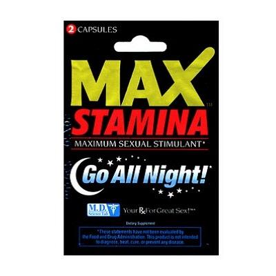 Max Stamina Maximum Sexual Stimulant 2 Capsules