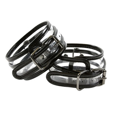 Bare Bondage Clear Vinyl Ankle Cuffs