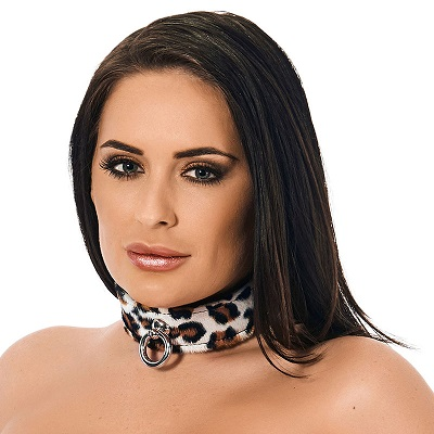Rimba Animal Print Leather Collar 1
