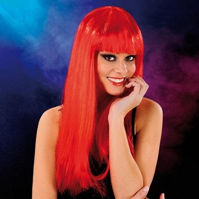 Cabaret Wig Red Long 1