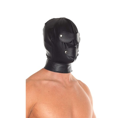 Rimba Leather Full Face Mask With Detachable Blinkers 1