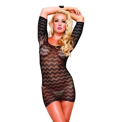 Leg Avenue Zig Zag Crochet Dress 1