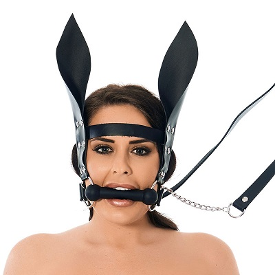 Rimba Horsebit Mouth Gag With Reins And Ears 1