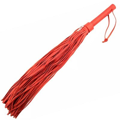 Rouge Garments Large Red Leather Flogger 1