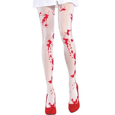 White Blood Stained Tights One Size 1