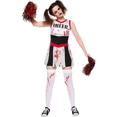 Zombie Cheerleader Adult Costume 1
