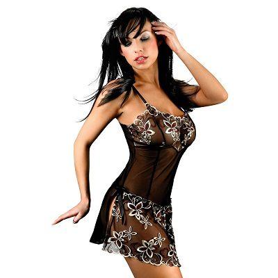 Corsetti Hera Babydoll With Floral Detail 1
