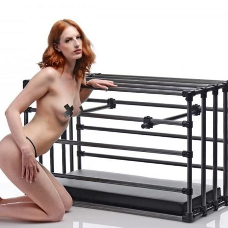 Kennel Adjustable Human Puppy Cage With Padded Board
