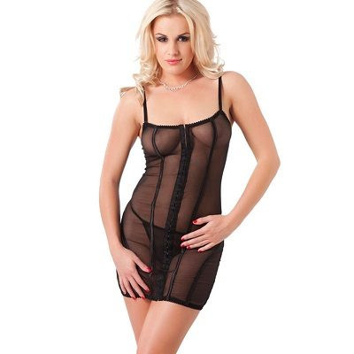 Rimba Black Dress And G-String 1