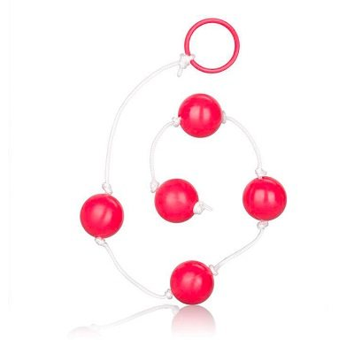 Large Pleasure Anal Beads Assorted Colours 1