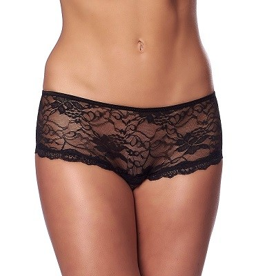 Rimba Black Crotchless Briefs 1