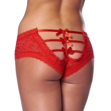 Rimba Romantic Red Open Back Briefs 2