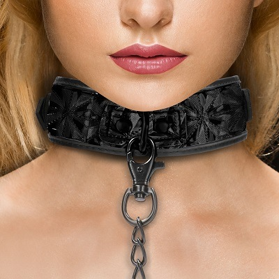 Ouch Luxury Bondage Collar With Leash 1