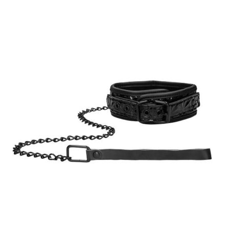 Ouch Luxury Bondage Collar With Leash 2