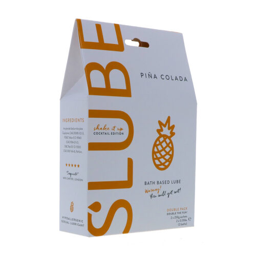 Slube Pina Colada Water Based Bath Gel 500g 1