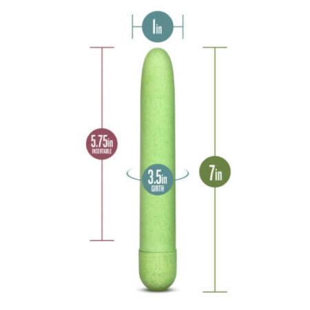 Gaia Biodegradable Eco Vibrator Green