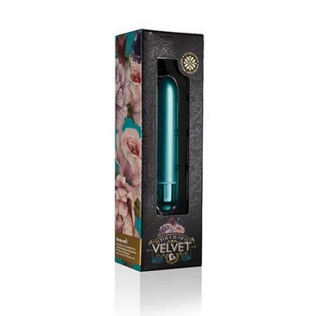 Rocks Off Touch of Velvet 10 Function Bullet Vibrator Peacock Petals