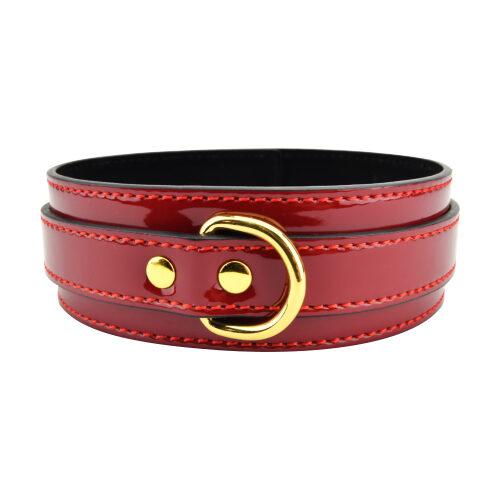Bound to Please Red Bondage Collar 1