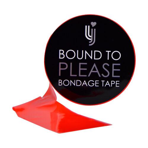 Bound to Please Bondage Tape Red 1