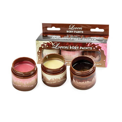 Lovers Chocolate Body Paints 3 Pack 1