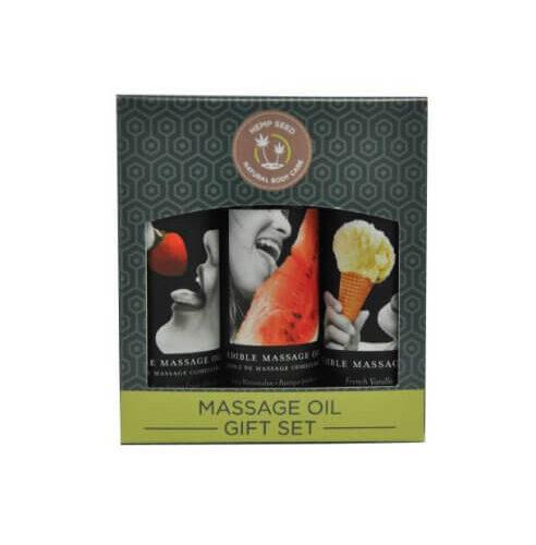 Earthly Body Edible Massage Oil Gift Set Box 1
