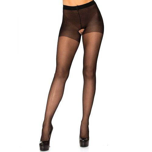 Leg Avenue Plus Size Crotchless Sheer Pantyhose 1