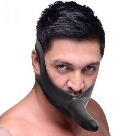 Master Series Face Strap On and Mouth Gag 1